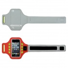 Outdoor Sports Arm Band w/ 3-Mode LED Light for IPHONE 5 / 5C / 5S - Red