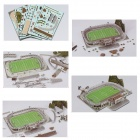 KM-05-09 3D Puzzle Of  The Laranjeiras Stadium - White + Green + Multicolor