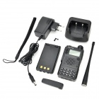"NKT NKT-R5 7.4V 1.4"" Display 100-CH Dual Band Walkie Talkie w/ Charging Dock - Black"