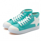 High-top Star Icon Women Casual Shoes - Green + White (EUR Size 36)
