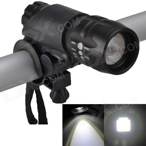 SingFire SF-825 250LM 3-Mode Zooming White LED Bicycle Light - Black(3 x AAA)