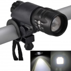 SingFire SF-825 CREE XR-E Q5 250LM 3-Mode Zooming White LED Bicycle Light - Black(3 x AAA)