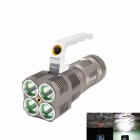 KINFIRE KF-40X  4 x CREE XM-L U2 1400lm 3-Mode White Flashlight w/ Red Laser - Brown (4 x 18650)