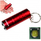 ALETO KL044R Cree XM-L T6 LED 700lm 3-Mode White Light Flashlight w/ Keychain - Red (1 x 16340)