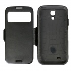 Slim Armor Flip PC + TPU Smart Case Cover w / Caller ID Display voor Samsung Galaxy S4 - Zwart