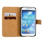 Heart Pattern Drawing PU Leather Plastic Cover Case for Samsung Galaxy S5 - White + Light Purple
