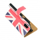 Flag of UK Pattern Drawing PU Leather Plastic Cover Case for Samsung Galaxy S5 - Blue + White + Red