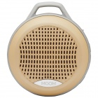 MGOM X5 Superior Quality Bluetooth V3.0 + EDR Speaker w/ TF / 3.5mm Jack / FM / Microphone - Golden