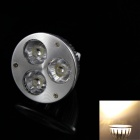 KINFIRE MR16 GU5.3 3W 240lm 3000K 3-LED Warm White Light Bulb (DC 12V)