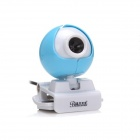 BLUELOVER M6 Free Drive HD 5.0 MP Camera w/ Microphone - Blue + White