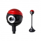 BLUELOVER T906 Beret HD 5,0 MP w / Microphone - rouge + noir