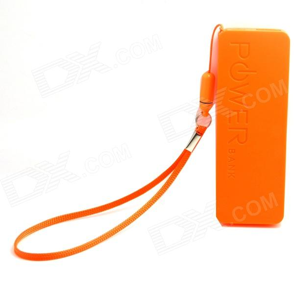 Ultrathin Portable 3000mAh Li-polymer Battery Mobile Power Bank - Orange