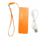 Ultrafino portable 3000mAh Li-ion del banco móvil - Orange