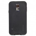 Fashionable PC + TPU + Aluminum Alloy Protective Back Case for Samsung Galaxy S5 - Black