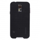 Fashionable PC + TPU + Aluminum Alloy Protective Back Case for Samsung Galaxy S5 - Black + White