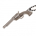 Creative Fashionable Gun Shaped Plastic Chain Stainless Steel Pendant Necklace - Coffee