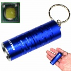 ALETO KL044L LED 700lm 3-Mode White Light Flashlight w/ Keychain - Blue (1 x 16340)