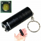 ALETO KL044B 1-LED 700lm 3-Mode White Light Flashlight w/ Keychain - Black (1 x 16340)