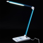 YEALUX TL1403W Wireless Charging Table Lamp for IPHONE, Samsung, HTC, Google Nexus - White + Blue
