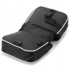 Multi-functional Bike Cycling Double Polyester Saddle Bag - Black
