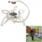 ALOCS CS-G11 Separated Type Outdoor Camping Burner Stove w/ Bag + Fire Starter - Silver
