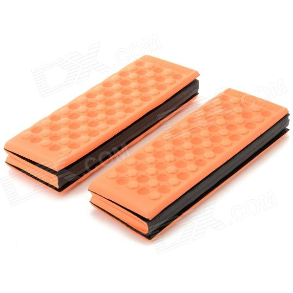 HARLEM HL-305 Foldable Outdoor Damp-proof Honeycomb Massage XPE Foam Pad / Cushion - Orange (2PCS) harlem hl 305 foldable outdoor damp proof honeycomb massage xpe foam pad cushion purple 2 pcs