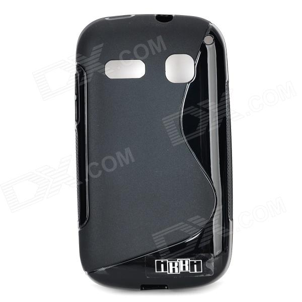 цена на IKKI Protective S Pattern Anti-slip TPU Back Case for Alcatel One Touch Pop C3 - Black