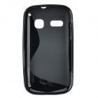 IKKI Protective S Pattern Anti-slip TPU Back Case for Alcatel One Touch Pop C3 - Black