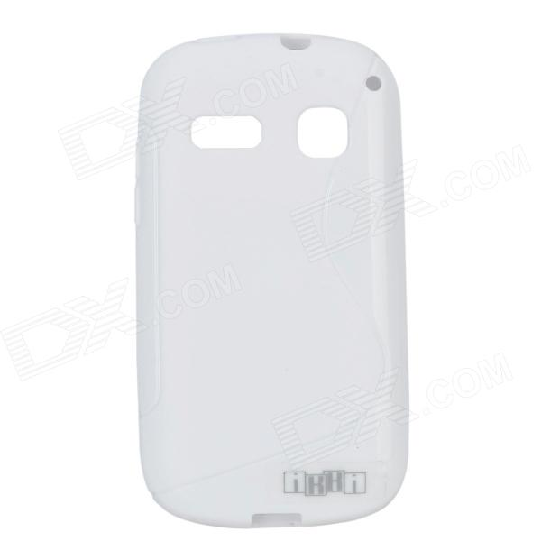 цена на IKKI Protective S Pattern Anti-slip TPU Back Case for Alcatel One Touch Pop C3 - Milky White