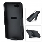 S-Z1mini-BK Protective ABS Back Case w/ Belt Clip / Holder for Blackberry Z1 Mini - Black