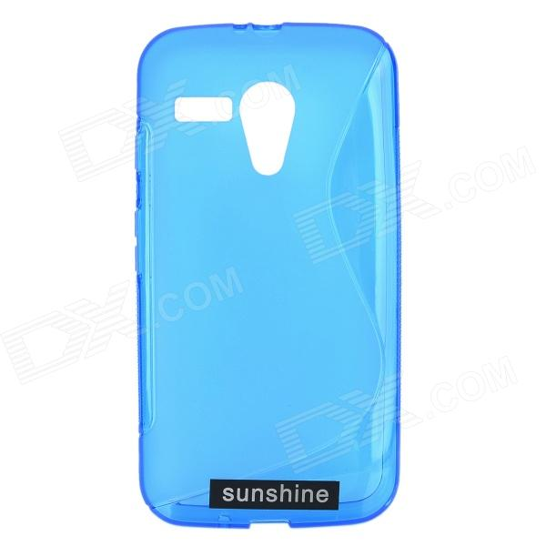 TPU Back Case + HD Screen Protector for Motorola MOTO G / MOTO DVX / XT1031 / XT1032 - Blue tyl motorola moto g xt1032 xt1033 1 for motorola moto g xt1032 xt1033