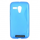 TPU Back Case + HD Screen Protector for Motorola MOTO G / MOTO DVX / XT1031 / XT1032 - Blue