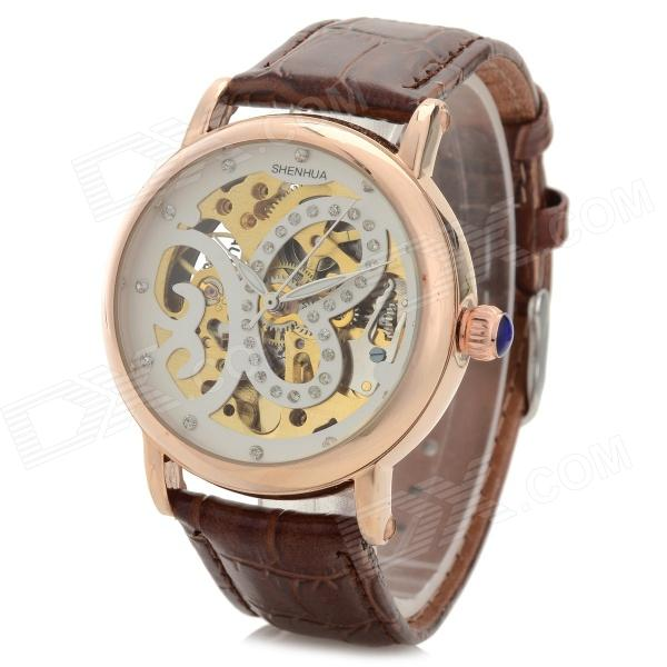 Shenhua Ladies' / Women's Butterfly Style PU Band Analog Mechanical Wristwatch - Brown (1000PCS)