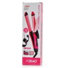 9925 2-in-1 35W US Plugs Professional Hair Curler + Straightener - Red + Black (AC 220V)