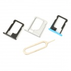 JLSIM Unlock SIM Card Adapters for IPHONE 4S / 5 / 5S / 5C (iOS7.1~7.X) - Black + Golden + Green