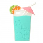 PJ00822A-E Protective Lemon Drink Style Silicone Back Case for IPHONE 5 / 5S - Multi-colored