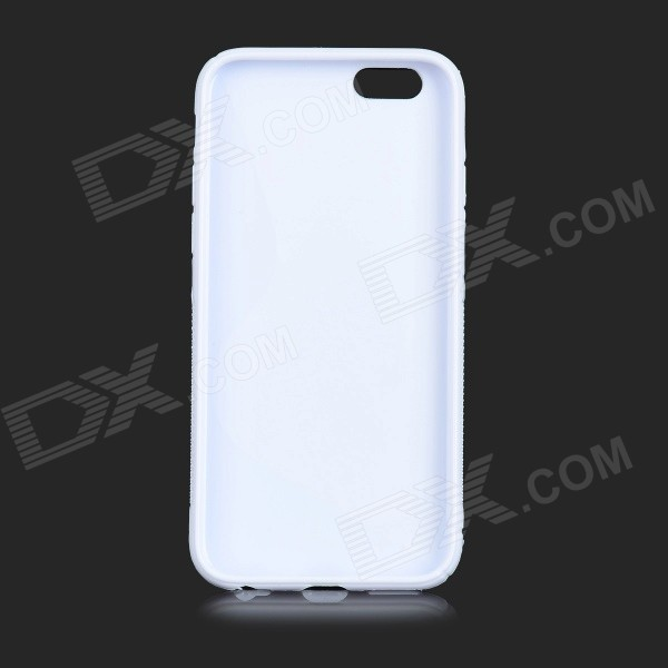 IKKI S Shaped Protective TPU Back Case for IPHONE 6 4.7'' - Milk White