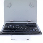 Bluetooth V3.0 59-Key Keyboard w/ Protective Case for 7''~8'' Tablet PC - Black