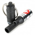 Emergency / Suvival Waterproof Aluminum Alloy Whistle for Climbing / Camping / Cycling - Black