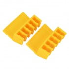 CC-902 Handy Desktop ABS Cord Divider Organizer - Yellow (2 PCS)