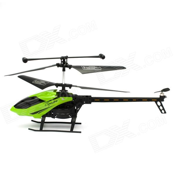J045 3.5-CH IR Remote R/C Helicopter w/ Gyroscope - Black + Green xinlin shiye x123 3 5 ch r c infrared control helicopter black yellow