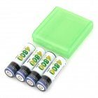 Sofirm Rechargeable 1.2V 2000mAh Ni-MH AA Battery - White + Black + Multi-Colored (4PCS)