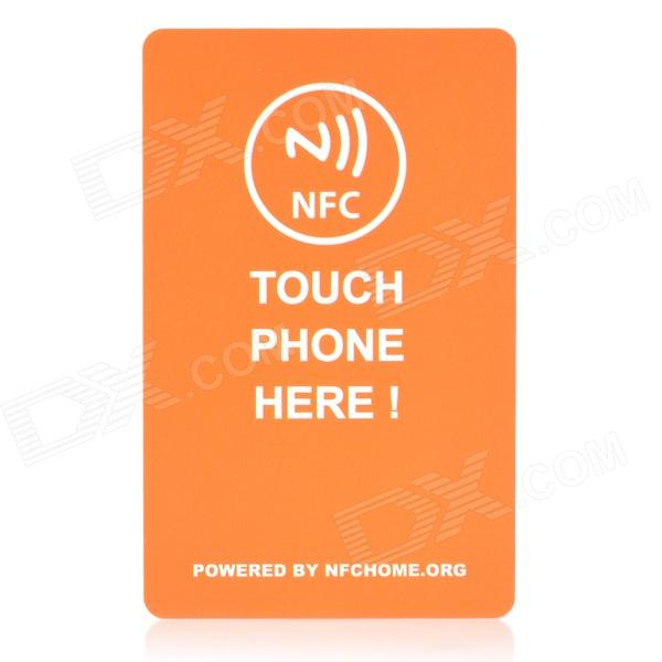 8,6 cm x 5,4 cm 4000 byte Chip NFC Smart Tag / Card - Gul