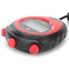 ZR 1380 3cm Sports Stopwatch / Chronograph w/ Neck Loop for Running - Black + Red (1 x L1154)