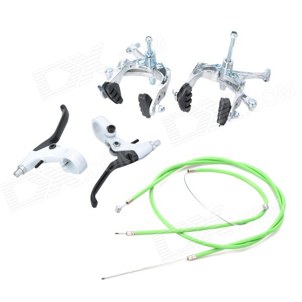 Front + Rear Brake + Brake Levers Set for Fixed Gear - Black + Silver 10 colors for suzuki gsf 1200 bandit gsxr 1100 w katana 1100 rf900r cnc motorcycle short long lever clutch brake levers shortly