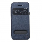 Flower Show Protective PU Leather Case w/ Display Window for IPHONE 5 / 5S - Dark Blue
