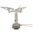 ALOCS CS-G09 All-in-one Type Outdoor Camping Burner Stove - Silver + Black + Red