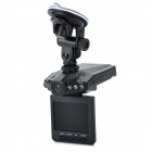 "F198HD 2.5"" TFT 1.3 MP Vehicle Video Recorder / Camcorder DVR w/ SD / 6-LED - Black"