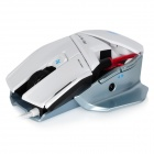 Saitek USB 2.0 Wired 450/900 / 1800 / 3500dpi optisk LED Gaming Mouse - Vit + Svart