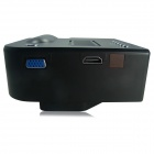 Mini Home High Definition LED Projector Supports HDMI - Black